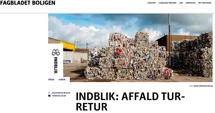 Anne Kathrine Rosener har skrevet indblik om affald for Fagbladet Boligen