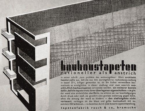 Bauhaus elskede glatte malede vægge – men fik stor succes med tapeter