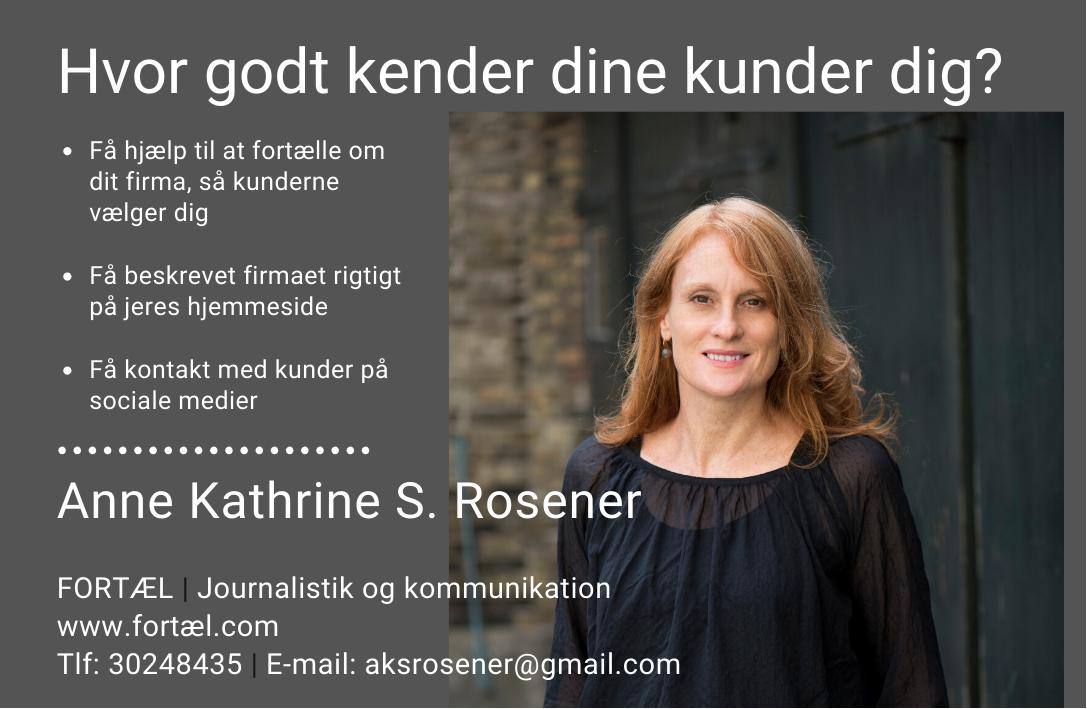 Annonce for Anne Kathrine S Rosener